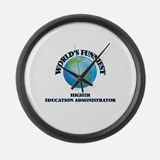 World's Funniest Higher Education Large Wall Clock