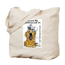 My Thinking Cat On Tote Bag