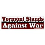 Vermont Against War Bumper Sticker