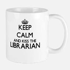 Keep calm and kiss the Librarian Mugs