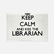 Keep calm and kiss the Librarian Magnets