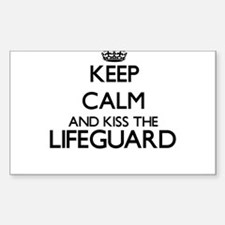 Keep calm and kiss the Lifeguard Decal