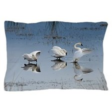 Dance of the Trumpeter Swans Pillow Case