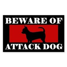 Beware of Attack Dog Chihuahua Decal