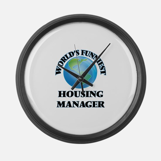 World's Funniest Housing Manager Large Wall Clock