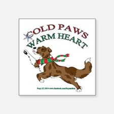 Holiday Paws Border Collie RMerle Sticker