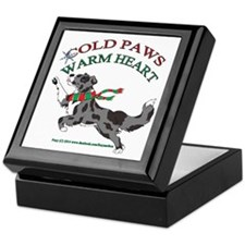 Holiday Paws Border Collie BMerle Keepsake Box