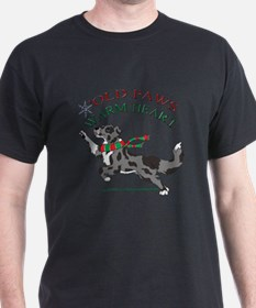 Holiday Paws Border Collie BMerle T-Shirt