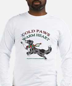 Holiday Paws Border Collie BMerle Long Sleeve T-Sh