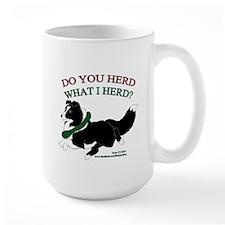 Holiday Sheltie Bi-Black Mugs