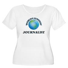 World's Funniest Journalist Plus Size T-Shirt