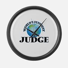 World's Funniest Judge Large Wall Clock