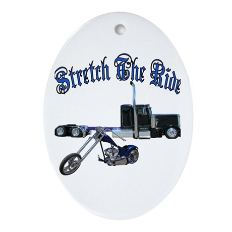Stretch The Ride Oval Ornament