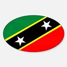 Saint Kitts and Nevis Flag Oval Decal