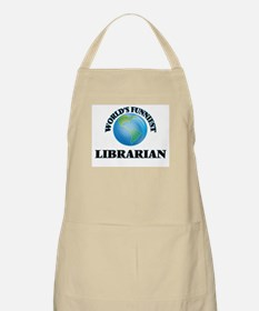 World's Funniest Librarian Apron