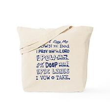 Snow Prayer Tote Bag
