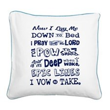 Snow Prayer Square Canvas Pillow