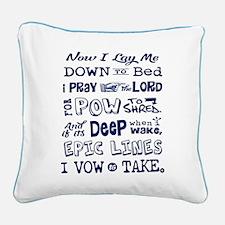 Snow Prayer Square Canvas Pillow