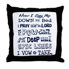 Snow Prayer Throw Pillow