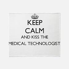 Keep calm and kiss the Medical Techn Throw Blanket