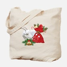 Christmas Goat Finds Candy Cane Tote Bag