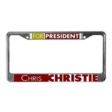 Chris Christie for President V License Plate Frame