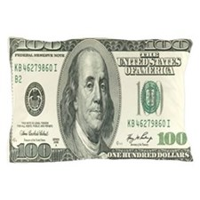 One Hundred Dollar Bill Pillow Case