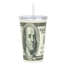 One Hundred Dollar Bill Acrylic Double-wall Tumble