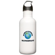 World's Funniest Manse Water Bottle