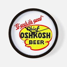 Chief Oshkosh Beer-1952 Wall Clock