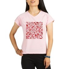 Red Floral Performance Dry T-Shirt