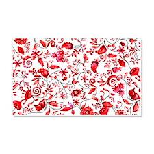 Red Floral Car Magnet 20 x 12