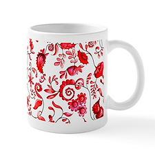 Red Floral Mug