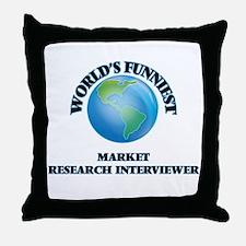 World's Funniest Market Research Inte Throw Pillow