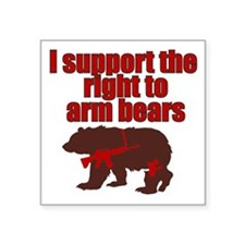 "Unique Right bear arms Square Sticker 3"" x 3"""