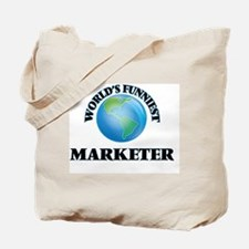 World's Funniest Marketer Tote Bag
