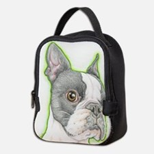 Boston Terrier Drawing Neoprene Lunch Bag