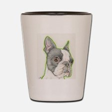 Boston Terrier Drawing Shot Glass