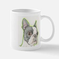 Boston Terrier Drawing Mugs