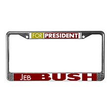Jeb Bush for President License Plate Frame
