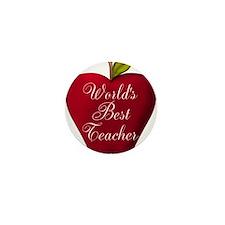 Worlds Best Teacher Apple Mini Button