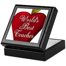 Worlds Best Teacher Apple Keepsake Box