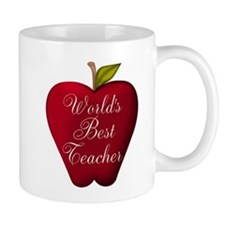Worlds Best Teacher Apple Mugs