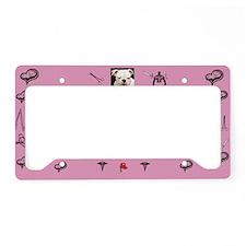 Pink Nurse License Plate Holder