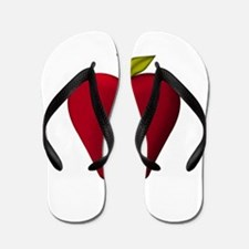 Red Apple Flip Flops