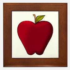 Red Apple Framed Tile