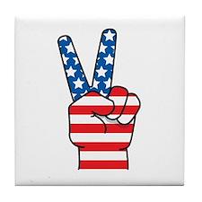 Peace Patriot Tile Coaster