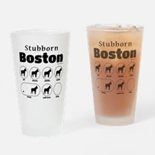 Stubborn Boston v2 Drinking Glass