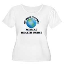 World's Funniest Mental Health N Plus Size T-Shirt