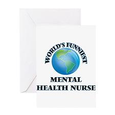 World's Funniest Mental Health Nurs Greeting Cards